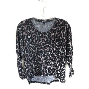 3 for $25 Lily White Leopard Print Top